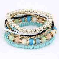 bracelets de style gratuit achat en gros de-2015 nouvelle mode océan Style Multcolor Bracelet Ensembles / Bracelet Bijoux Pour les femmes Livraison gratuite