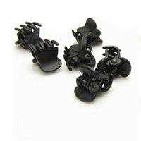 Wholesale Mini Hair Clamps - Wholesale-Fashion Designer Black Plastic Mini Hair Clips Hairpin Cliper Clamp With Claws Pattern For Women