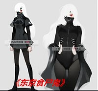 Wholesale Tokyo Dresses - Free shipping Tokyo Ghoul Ken Kaneki Cosplay Costume black dress for women