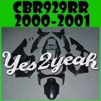 Wholesale Cbr Plastics - In Stock Yes2yeah Injection Mold Unpainted (Unpolished) Fairings For Honda CBR900RR 929 CBR929RR CBR 929RR 2000 2001 00 01 H90Y00