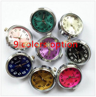 Wholesale snap button watches resale online - 15 off new colors option mm snaps button jewelry watch Snap Buttons for bracelets drop shipping