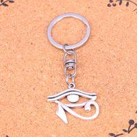 Wholesale Antique Ancient Key - New Arrival Novelty Souvenir Metal ancient egypt eye of Horus Key Chains Creative Gifts Apple Keychain Key Ring Trinket Car Key Ring