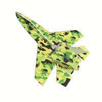 Wholesale Electric Model Airplane - Brand new su 27 model rc airplanes part camouflage shatter resistant kt foam board led jet planes body kits dropshipping