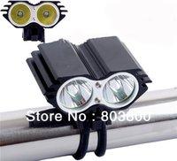 Wholesale Torch Cree U2 - 2 xT6 Upgrade CREE LED XML U2 5200 Lm Bicycle Bike HeadLamp Flashlight Torch Light free shipping