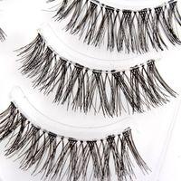 Wholesale Wispy Eyelashes Wholesale - Wholesale-Best Makeup Long Natural False Eyelashes Wispy Fake Lashes Upper Fake Eyelashes 5 pair XM
