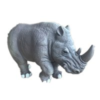Wholesale 12 Animals Figurines - Rhinoceros Animals Model Figurine Kid Educational Toy Natural Collection