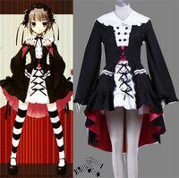 Wholesale Lolita Anime Costume - 2016 Japanese Anime Costumes Yuki Nagato LOLITA Cosplay school girl uniform lockable dress Halloween Costumes adult