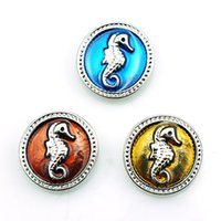 Wholesale Diy Crocodile - New Arrival Fashion 18mm Snap Buttons 3 Color Crocodile Alloy Ginger Clasps DIY Noosa Jewelry Accessories