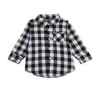 Wholesale Casual Check Shirt Girl - Fashion Baby Kids Boy Girl Long Sleeve Shirt Plaids Checks Long Sleeve Tops Blouse Casual Clothes High quality School Kids Clothing 1-7T