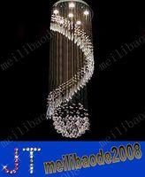 Wholesale Ceiling Decoration Office - D50cm*H130cm Luxury Chandelier K9 Crystal Ball Spiral Art Luminaire Decoration Rain Drop Luster Pendant Lamp Ceiling Chandeliers MYY10546A