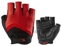 yarış eldiveni yarım parmak toptan satış-Yeni varış 2015 SPED Yarım Kısa parmak Bisiklet Bisiklet Eldiven Bisiklet Açık spor Yarış sürme en kaliteli bisiklet eldivenleri