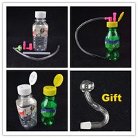 Stoned Mini Raucher Smart Glass Oil Rig 9.9mm gemeinsame Spring Water Mineral Water Bottle Shaped 4-Zoll-Ölplattformen Weiß Grün Bongs Geschenk Bowl