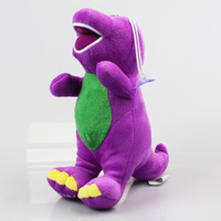 "Wholesale Best Sing - Barney Child's Best Friend 8 "" barney sings ""I Love You"" song plush toy soft stuffed doll Wholesale 100 pcs Free shipping"