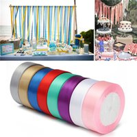 Wholesale Inkjet Recycling - Silk Satin Ribbon 20mm 22 Meters Wedding Party Festive Event Decoration Crafts Gifts Wrapping Apparel Sewing Fabric Supplies Party Ribbon