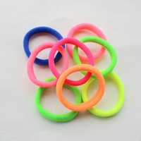 Wholesale Wholesaler Hair Accessory - Candy Colored Hair Holders High Quality Rubber Bands Hair Elastics Accessories Girl Women Tie Gum (Mix Colors) free shipping TY961
