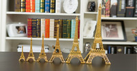 Wholesale Eiffel Tower Centerpieces Wholesale - Wedding Decorations Gold Paris 3D Eiffel Tower model Metal crafts for Wedding centerpieces home table centerpieces party event supplies