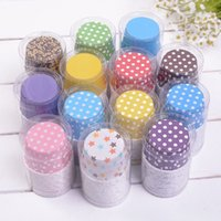 Wholesale Cheap Wholesale Christmas Cups - Wholesale 20pcs lot Cheap Colorful Design Christmas And Wedding Cake Baking Decorations Muffin Cups