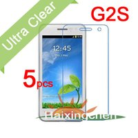 Wholesale G2s Screen - Wholesale-Ultra Clear LCD Screen Protector Guard Cover Protective Film For JY G2S Jiayu G2S Film (5pcs Film + 5pcs Cloth)