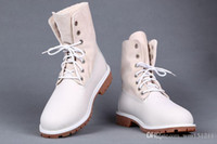 Wholesale Cheap Winter Boots Women Waterproof - Cheap Winter Plush Fur Martin Shoes 2015 New Waterproof Genuine Leather Women Mens Wheat Boots Outdoor Casual Work Boots
