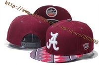 Wholesale Caps Cheap College Wholesale - Wholesale-2015 Cheap Alabama Crimson Tide NCAA Hat, Adjustable Snapback College Football Hat,