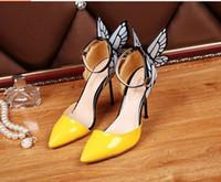 ingrosso taglio farfalla-Sophia Webster zapatos mujer gladiator Sandali donna 2015 Cut-Out Tacchi alti New Women pumps Butterfly Scarpe da sposa Donna