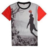 Wholesale Shirt 3d Drying - Hot Ssale New Summer High Quality T-shirt Basketball 3D Printing loose Fashion Cultivate one's morality Quick Dry t shirt