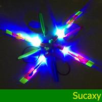 Wholesale Toy Umbrella For Kids - LED Amazing Flying Arrows Helicopter Fly Arrow Umbrella for Kids LED Flying Toys FREE Shipping DHL