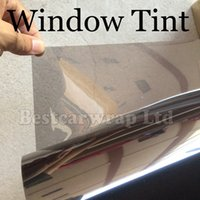 Wholesale window color lights resale online - Premium Car Wiindow Tint Film light smoke Visber Solar Film High Resistance UV Heat Insulation Film Size x30M