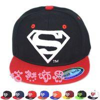 Wholesale Superhero Hats - 2015 hot sale children superman superhero printing baseball cap Fashion Kids Summer Snapback Sun Caps Baby Hip-hop Hats & Caps children Caps
