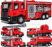 Wholesale Light For Fire Truck - Alloy Truck Model Toy, Aerial Ladder Fire Truck Toy, Water Tanker, 5 Different Kinds, with Light for Christmas Kid' Gifts, Collecting