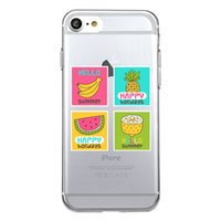 Wholesale Iphone Banana - Shaka Laka Cute banana Pattern Phone Shell Clear Soft TPU Silicon Summer Fruit Case For iPhone 6 6S 5.0in 6Plus 7 7plus 8 8s plus Back Cover