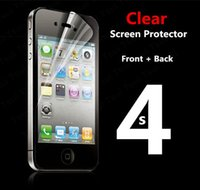 Wholesale Transparent Cloths Body - Wholesale-Front + Back Full body Transparent Clear LCD HD Screen Protector Film for Apple iPhone 4 4S 4G Protective Film Guard with Cloth