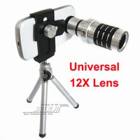 Wholesale S3 Zoom - Universal 12x Zoom Optical lens Telescope Lens with tripod for iPhone 6 6Plus 5s 5c 5 4s Samsung S3 S4 S5 Note 1 2 3 4 for HTC SONY