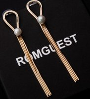 Wholesale Paris Earings - 2 paris wonderful pearl gold*silver tassels lady's earings ( 88)