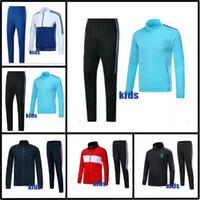 Wholesale Boys Suit Shorts - AAA+ 17 18 Real Madrid kids kit jacket NEYMAR JR soccer jersey 2017 ronaldo DYBALA Training suit pogba messi HAZARD football tracksuit