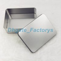 Wholesale friendly cards case - 100PCS 12cm *9cm *4cm Tin Container Storage Box Metal rectangle for beads business card candy herbs Case