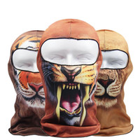 3D animal réel arborescence Active Sports de plein air Vélos Cyclisme Moto Masques de ski Capuche Chapeau Veil Balaclava UV Protect Mask Neck Full Face