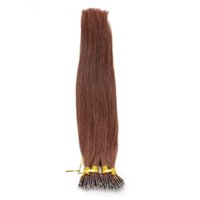 Auburn # 33 Rich Copper Red Real Remy Человеческие волосы 100 г Micro Nano Ring Hair Extensions