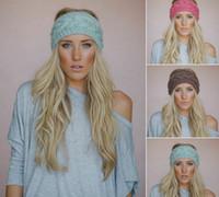 Wholesale Wide Crochet Elastic - Hair accessories for ladies 20 colors cheap 2015 Hot womens wide Crochet Headbands Knit hairband Flower Winter elastic Ear Warmer Headwrap