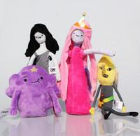 Wholesale Adventure Time Marceline Plush - NEW Adventure Time Princess Plush Princess Marceline Lumpy Space Bonnibel Bubblegum Plush Doll Toys 15~18cm 4Styles Selectable Free shipping