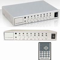 Wholesale Quad Splitter Processor - HD 4 Channel CCTV Quad Video Camera Processor System kit splitter switcher COLOR