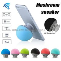 Wholesale Bluetooth Mushroom - Mushroom Speakers Mini Wireless Bluetooth Speaker HandsFree Sucker Cup Audio Receiver Music Stereo Subwoofer For Android IOS Smart Phone PC