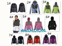 Wholesale Womens Long Warm Sweaters - wholesale Womens Hoodie sweater cardigan coat Jackets Camping Windproof Ski Warm Down Coat Outdoor Casual Hooded SoftShell Sportswear Black