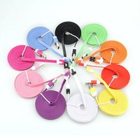 Wholesale M ft Colorful noodle Charging USB Data Sync Cable For Mobile Phone