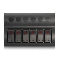Wholesale New Waterproof Boat Rocker Switch Panel Gang Red LED Indicator Circuit Breaker