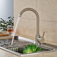 Wholesale Paint Kitchen Faucet - Wholesale And Retail Solid Brass Painting Kitchen Faucet Single Handle Hole Vessel Sink Mixer Tap Deck Mounted Hot & Cold Mixer