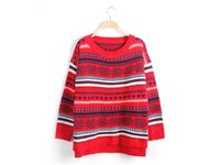 Wholesale Amy Love - Amy 2015 Europe And United State New Winter Love Folk Style Retro Striped Sweater Loose Turtleneck Sweater