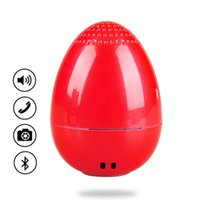 Wholesale Wireless Camera Stand - EGG Bluetooth Wireless Speaker for Christmas Gifts Mini Music Player Outdoor Speaker TWS Bluetooth Speaker with Remote Camera MIS172