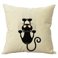 Al por mayor-Funda de almohada Home Square Throw Pillow, 45cm x 45cm (Cat)