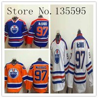 Wholesale Unisex Kids Hoodie - Factory Outlet, #97 McDavid Jersey Boys Youth Kids Connor McDavid #97 Home Blue White Orange Jerseys Oilers Hoodie Ice Hockey Jerseys sales